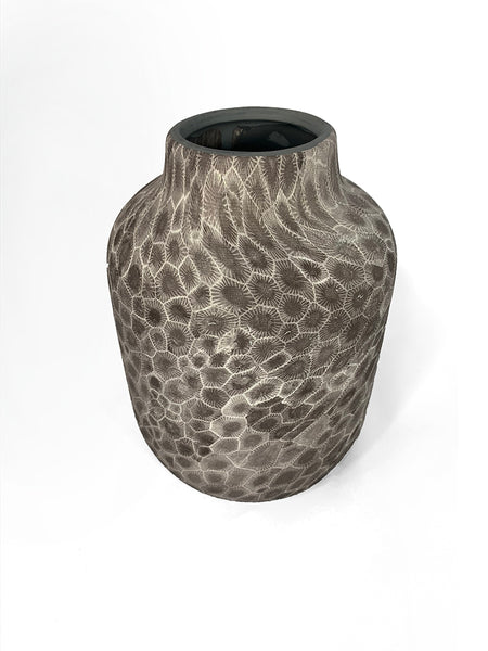 Petoskey Stone Ceramic, Narrow-Rimmed Vase