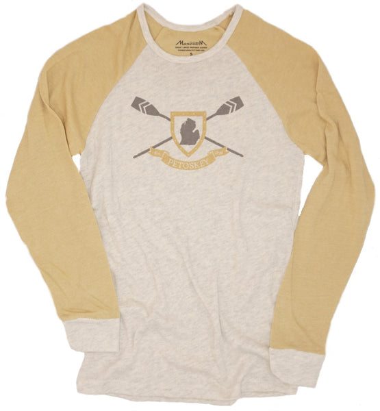 Mens Knit Longsleeve -Burlap/Oatmeal- Petoskey oar screen