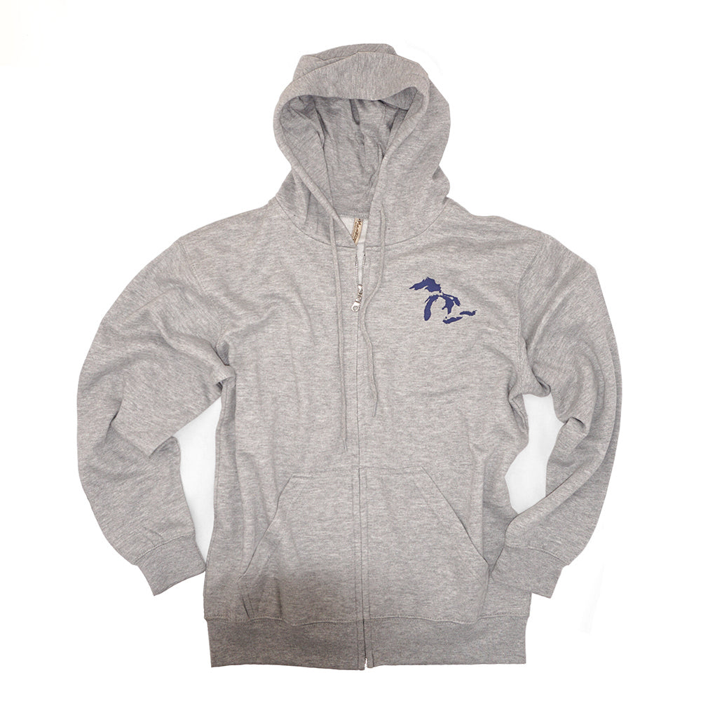Momentum Full Zip Great Lakes Hoodie - Grey