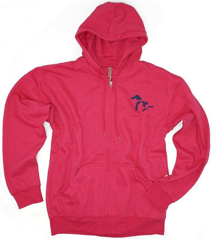 Momentum Full Zip Great Lakes Hoodie - Pink