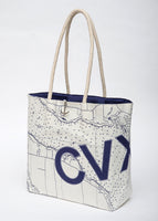 Charlevoix Sail Bag Tote - Navy