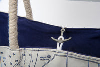 Great Lakes Anchor Sail Bag Tote - Navy