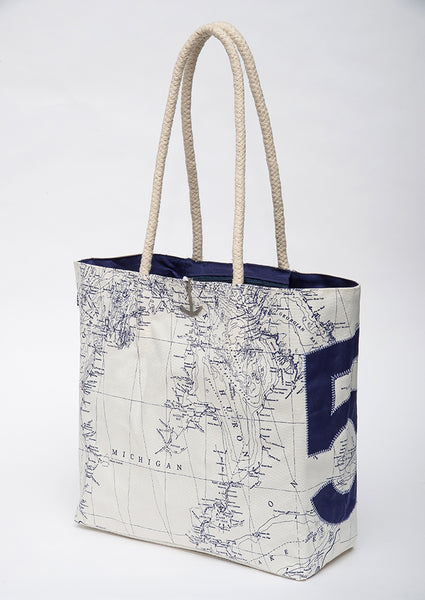 "Great Lakes ""5"" Sail Bag Tote - Navy"