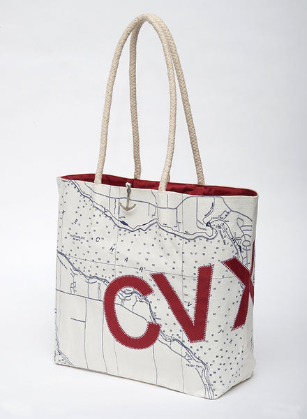 Charlevoix Sail Bag Tote - Red