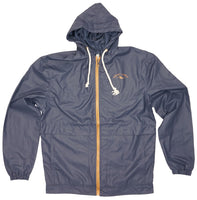 Mens Rain Jacket- Athletic Fit- NAVY