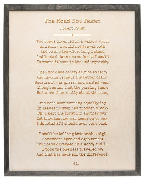 Word Art - The Road Not Taken - Robert Frost