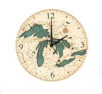Woodchart Clock - Great Lakes