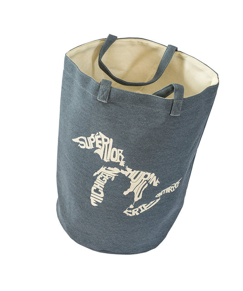 Great Lakes Silhouette Beach Bag