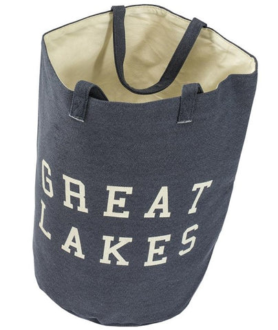 Great Lakes Wording Beach Bag