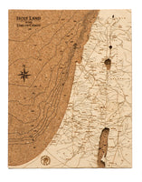 Cork Map of the Holy Land in the Time of Christ