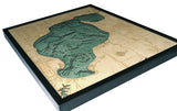 "Houghton Lake, Michigan 3-D Nautical Wood Chart, Large, 24.5"" x 31"""
