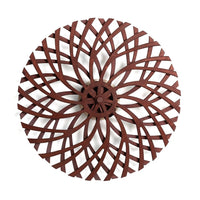 "Kinetic Wood / Labyrinth Kinetic Sculpture - Brown - 34"" Diameter"