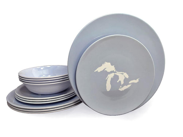 Dinner Set - Great Lakes Silhouette-Blue