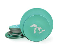Dinner Set - Great Lakes Silhouette-Seafoam