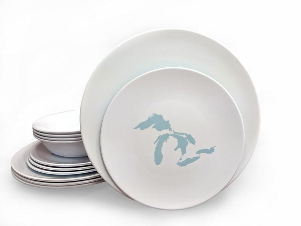 Dinner Set - Great Lakes Silhouette-White