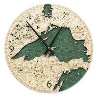 Woodchart Clock - Lake Superior