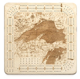 Woodchart Cribbage Board - Lake Superior