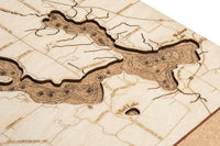 Woodchart Cork Map - Walloon Lake