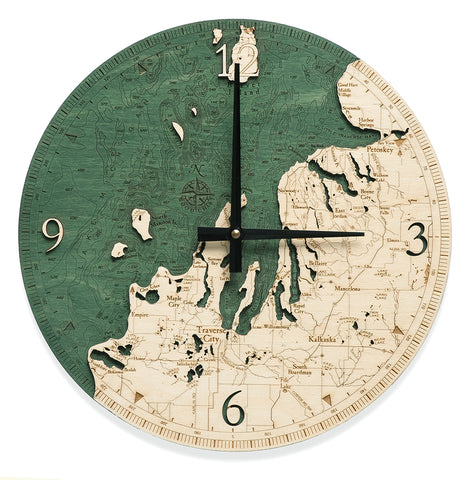Woodchart Clock - Northwest Lower Michigan