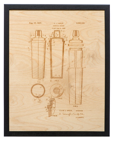 Patent Art - Cocktail Shaker
