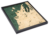 "Michigan Route M22 3-D Nautical Wood Chart, Large, 24.5"" x 31"""