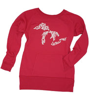 Tunic Length Crewneck Sweatshirt- Great Lakes