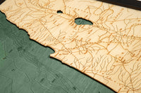 "Wood Carved Map of the Holy Land in the Time of Christ  16"" x 20"" (2 layers)"