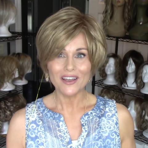 Popular Brown Gold Short Wig