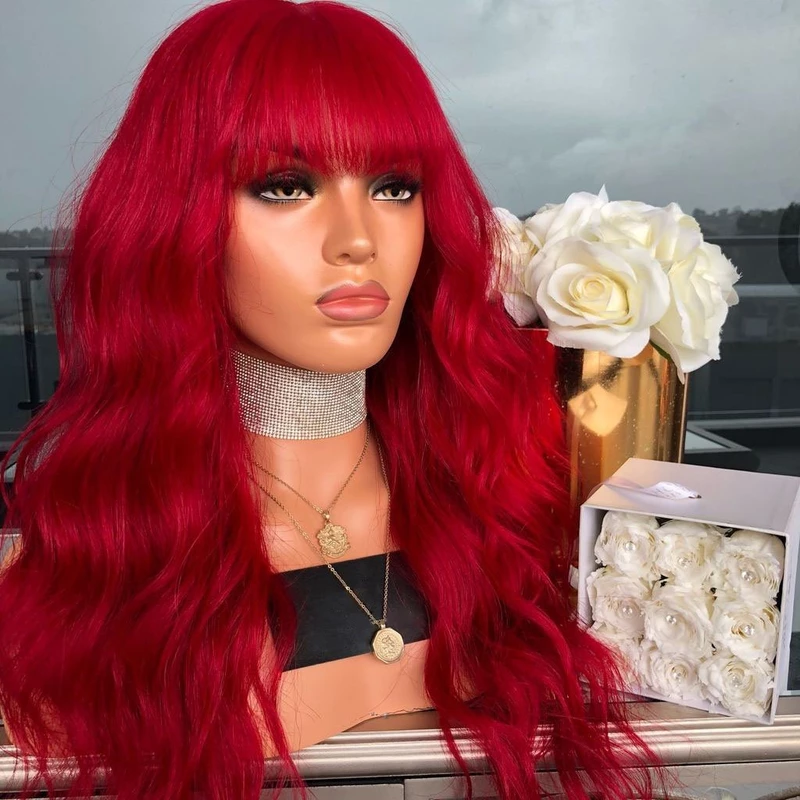 Vibrant Red Wig