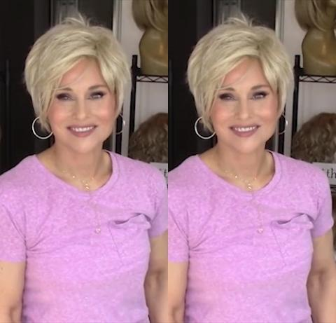 2020 Light Gold Short Wig