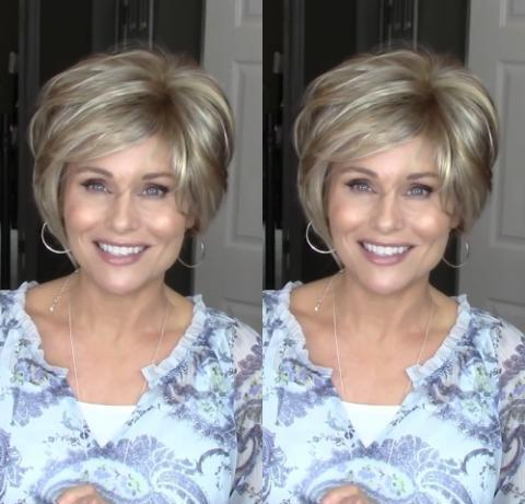 Fashion Mixed Gold Short Wig