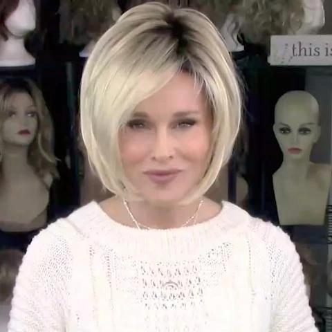 2020 Soft White Gold Bob Wig