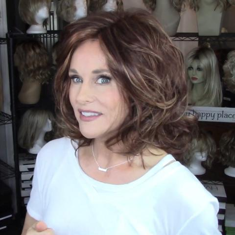 Temperament Dark Brown Curly Bob Wig