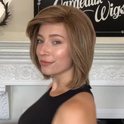 Romantic Fashion Honey Tea Brown Bob Wig