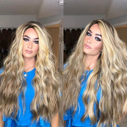 Dreamy Blond Wave Long Wig