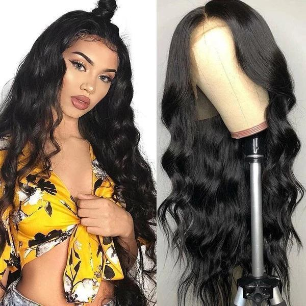 Pitch-Black Wave Hhair-140%(Extra Thick As In Video)