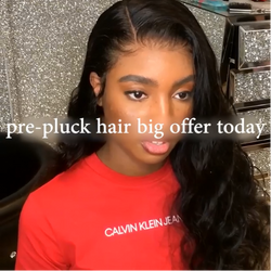 Prepluck Daily Black Wave Hair-140%(Extra Thick As In Video)