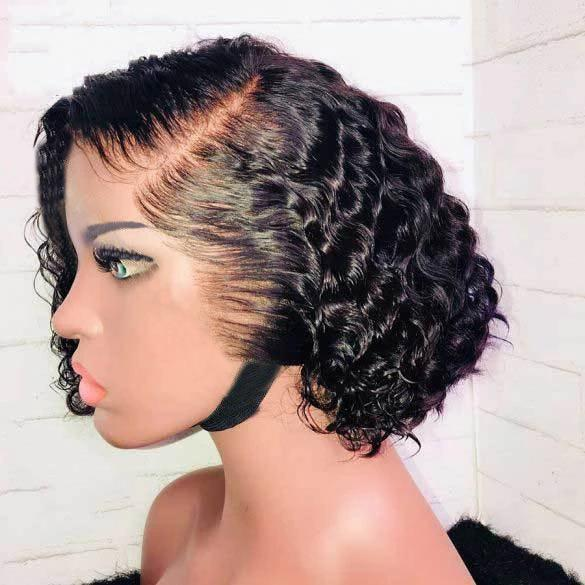 Glueless Short Bob Wig-140%(Extra Thick As In Video)