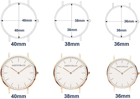 Ashton & Co. Watches Size Guide