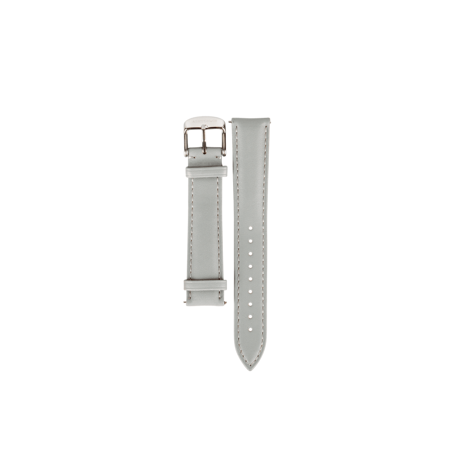 Leather Strap - Grey with Silver Buckle