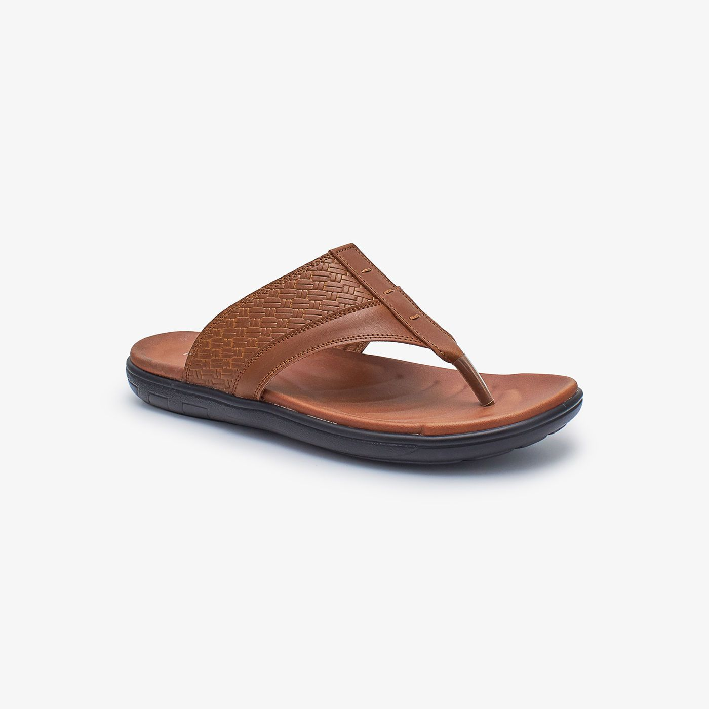 Toe Post Textured Mens Chappal
