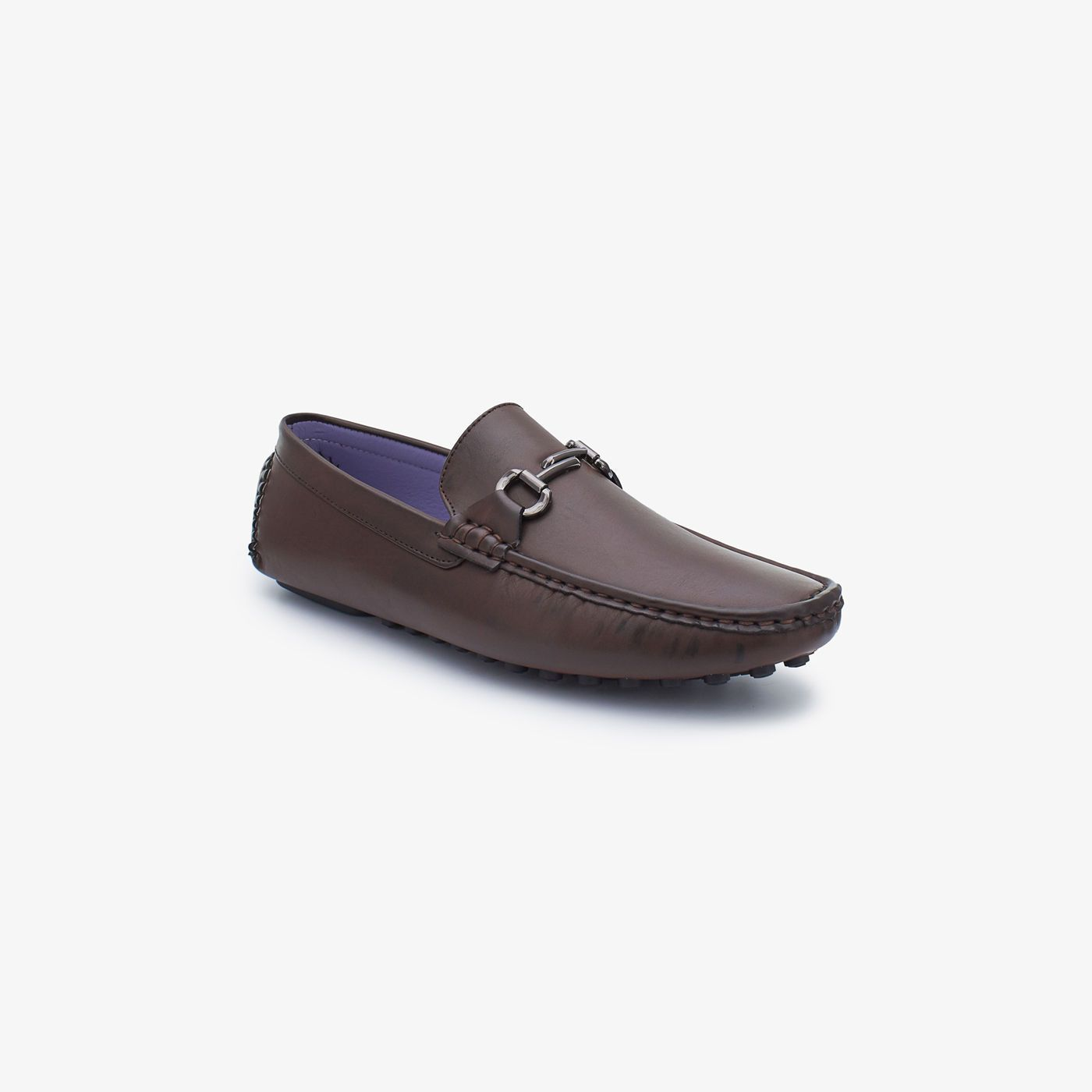Mettalic Buckled Loafers