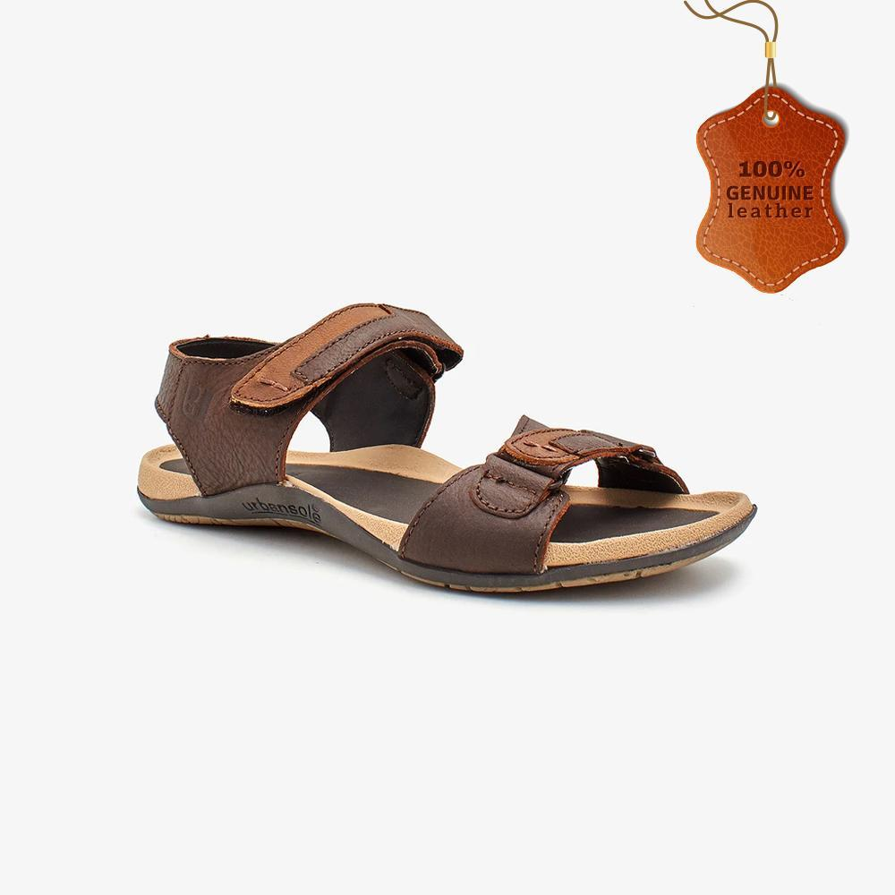 Double Strap Leather Sandals for Men