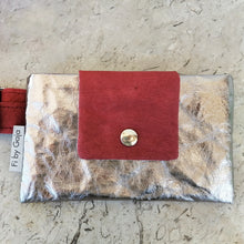 Load image into Gallery viewer, MINA BAG, red & silver