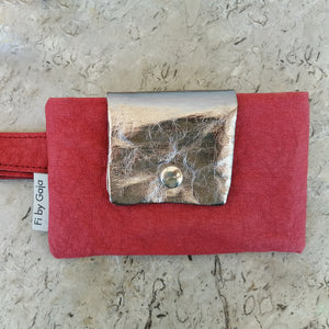 MINA BAG, red & silver