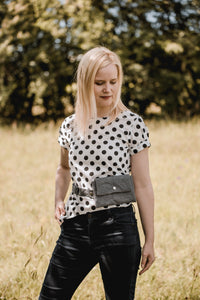 MINA BAG, dark silver