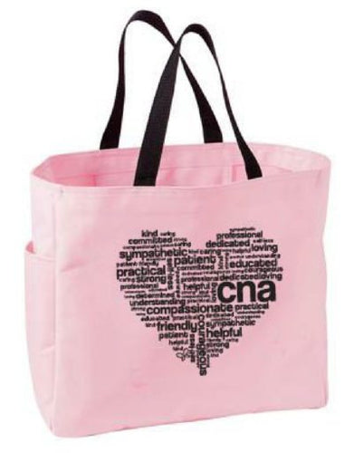 CNA Heart Tote Bag - Scrubs Galore and More