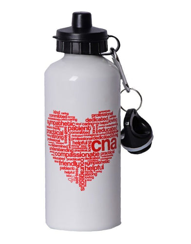 CNA Heart Water Bottle - Scrubs Galore and More