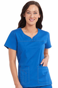 Sport Neck Line Top - Scrubs Galore and More