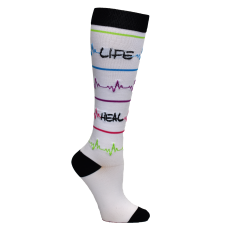 Heal•Care• Love Compression Sock - Scrubs Galore and More